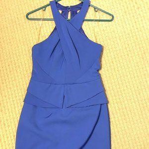 Peplum blue boutique dress